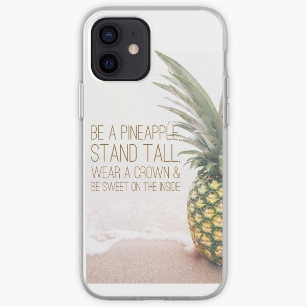 Be a pineapple  iPhone Soft Case