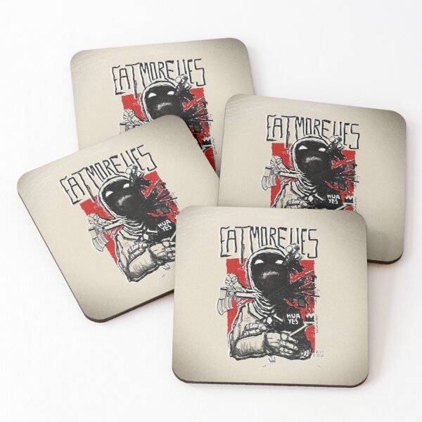 Eat More Lies Coasters (Set of 4)
