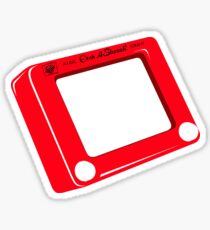Etch a Sketch Sticker