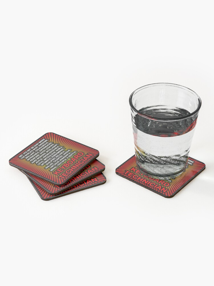 Alternate view of Hey, It's Not So Easy Being ... Keyboard Technician  Coasters (Set of 4)
