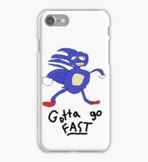 Sanic- Gotta Go Fast iPhone Case/Skin