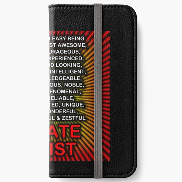 Hey, It's Not So Easy Being ... Karate Artist  iPhone Wallet