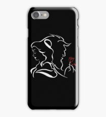 beauty and the beast red rose iPhone Case/Skin