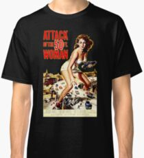 Retro Vintage Drive in Movie Attack of the 50 ft. Woman Classic T-Shirt