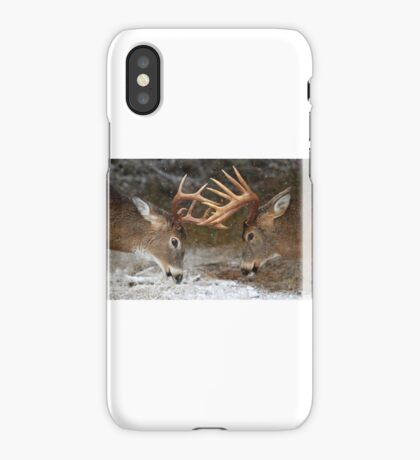 Clash of the Titans - White-tailed deer iPhone Case/Skin