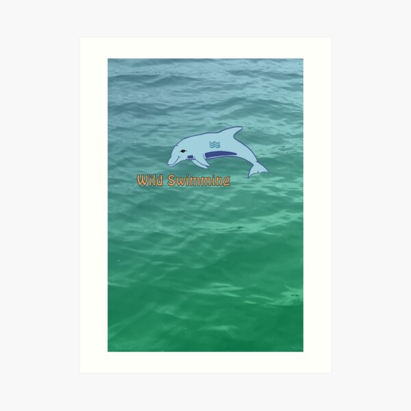 Wild Swimming by Moti for the West Braes Project Art Print