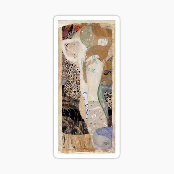 Gustav Klimt - Friends (Water Serpents I / Wasserschlangen), Art Nouveau / Jugendstil Sticker