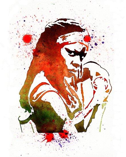 Quot Walking Dead Michonne Stencil Style Quot Poster By Louloud123