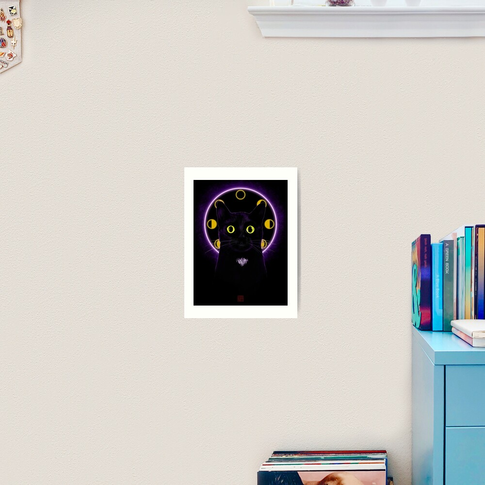 Witching Hour Black Cat Art Print
