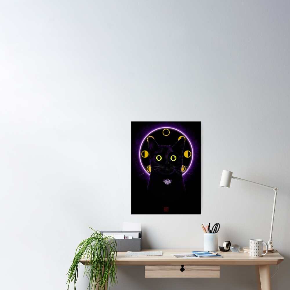 Witching Hour Black Cat Poster