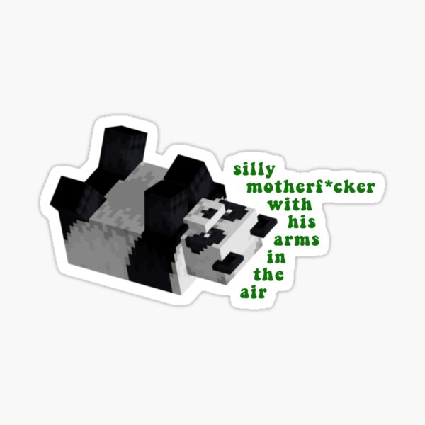 Silly motherf*cker with his arms in the air - Wilbur Soot Sticker Sticker