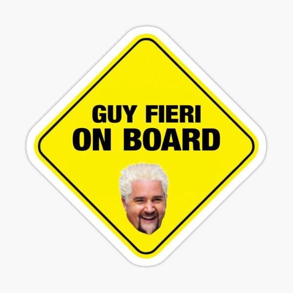 Guy Fieri on Board Sticker