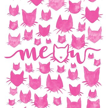 Meow - Cat Heads Pattern by shargreaves