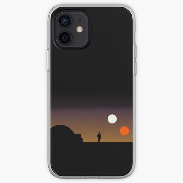 La doble puesta de sol ... Funda blanda para iPhone