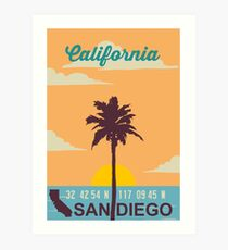 San Diego - California. Art Print