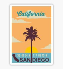 San Diego - California. Sticker
