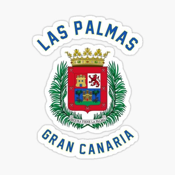 Bandera Sello Emblema de Las Palmas Gran Canaria Islas Canarias España - Escudo de Islas Canarias Pegatina