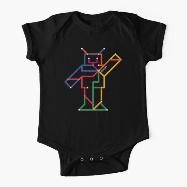 Boston Robot (White) Short Sleeve Baby One-Piece