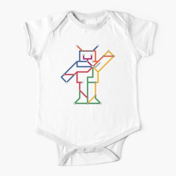 Boston Robot Short Sleeve Baby One-Piece