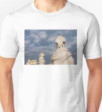 Whimsical Chimneys - Antoni Gaudi Casa Mila Rooftop T-Shirt