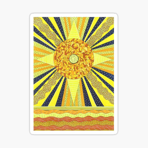 Sunday's Planet is the Sun Sticker