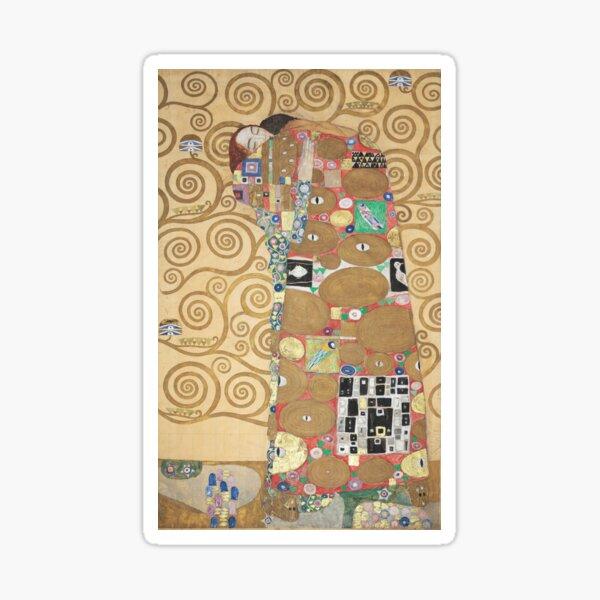 Gustav Klimt - Fulfillment (Lovers), Art Nouveau / Jugendstil Sticker