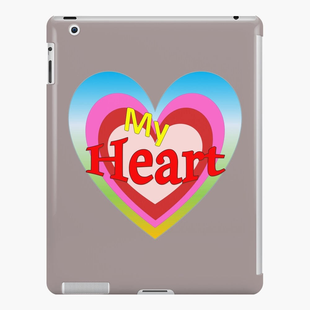 Valentines Day-Four hearts with different colors red, pink, blue green iPad Case & Skin
