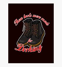 These Boots Were Made For Dorking Photographic Print