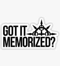 Got It Memorized? Sticker
