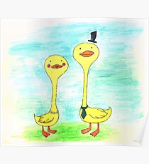 Mr. and Mrs. Duck Poster