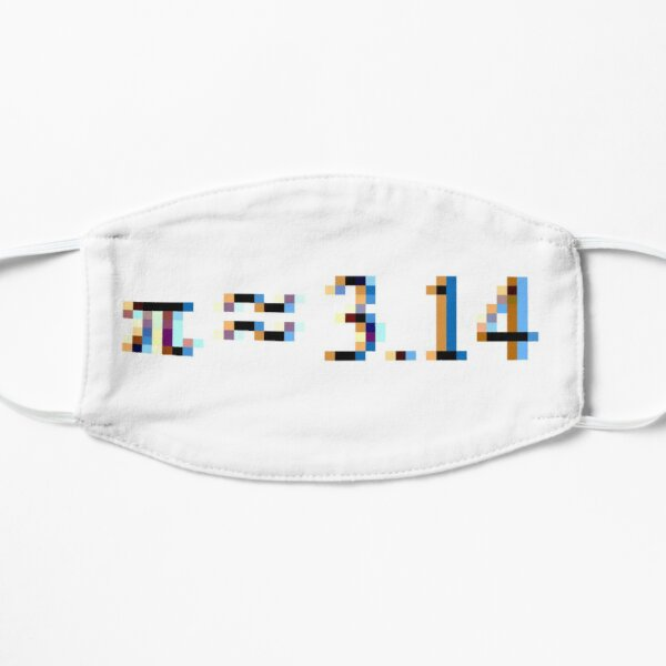 Pi = 3.14; Π, π Flat Mask
