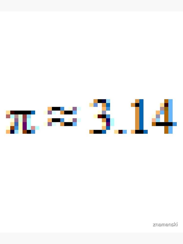 Pi = 3.14; Π, π by znamenski