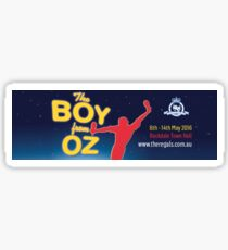 Regals - THE BOY FROM OZ - Banner Sticker