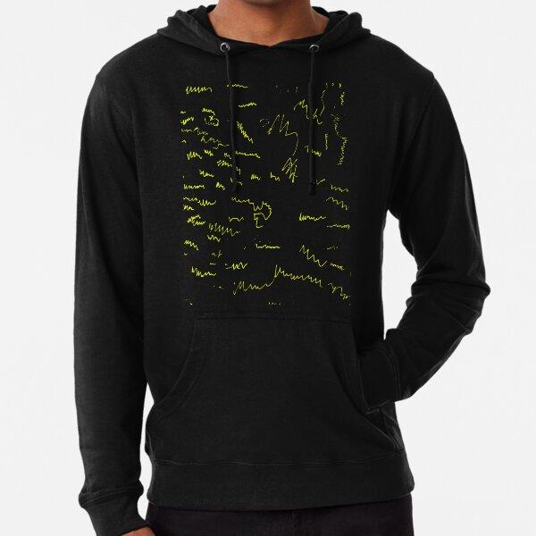 Abstrait Chartreuse Sweat à capuche léger