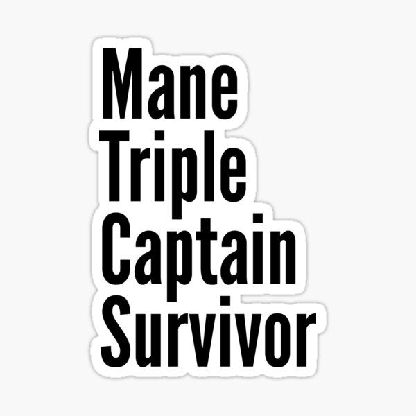 Mane Triple Captain Survivor Sticker