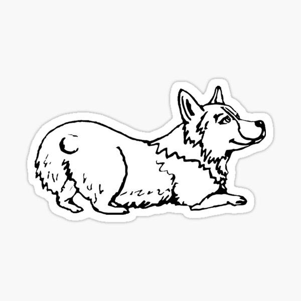 Playful Corgi Illustration Sticker