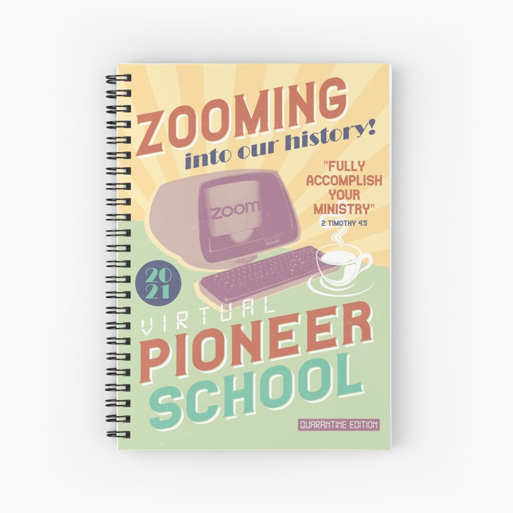 PIONEER SCHOOL 2021 (ZOOMING INTO THE HISTORY!) Spiral Notebook
