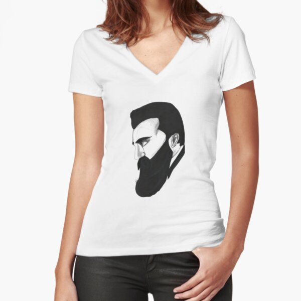 HERZL Fitted V-Neck T-Shirt