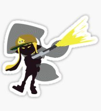Yellow Female Inkling - Sunset Shores Sticker