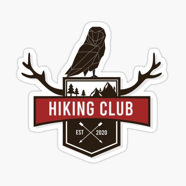 Hiking Club Sticker