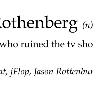 Jason Rothenberg - dictionary definition by theZdesign