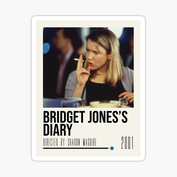 Bridget Jones's Diary Movie Poster Sticker