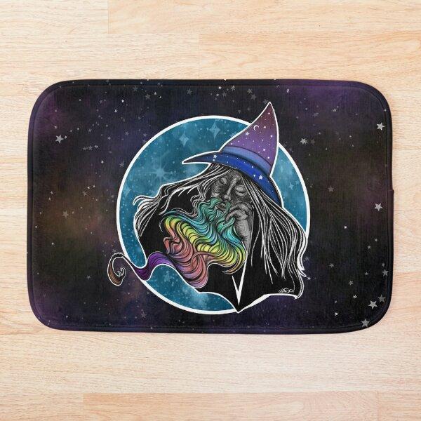 Rainbow Bearded Wizard Bath Mat
