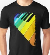 Piano Keyboard Rainbow Colors  T-Shirt