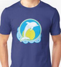 Dolphin Sun Yellow Unisex T-Shirt