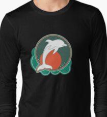 Dolphin Moonlight Red Long Sleeve T-Shirt