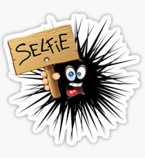 Selfie Fun Cartoon Face Sticker