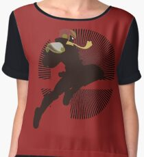 Captain Falcon (Smash 4, Knee of Justice) - Sunset Shores Women's Chiffon Top