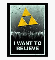I want to believe in the Triforce Photographic Print