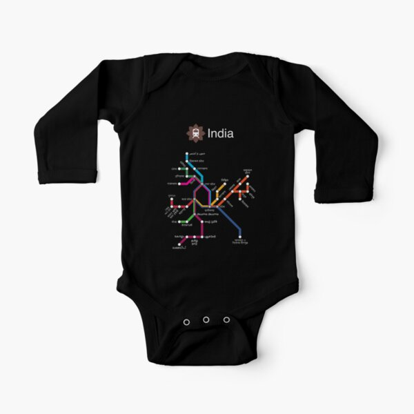 India (white) Long Sleeve Baby One-Piece